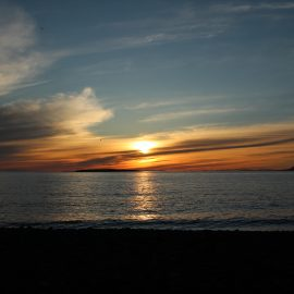 Iceland midnight sunset