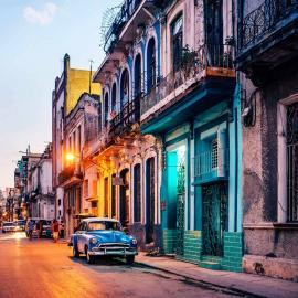 Street at dusk in Havana