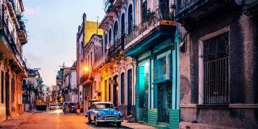 Street at dusk in Havana