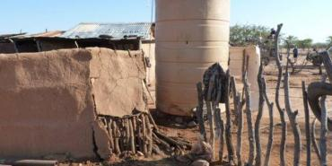 Elephant damage to water supplies in Namibia