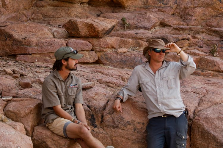 Andreas Kornevall chatting with Project Manager in Namibia