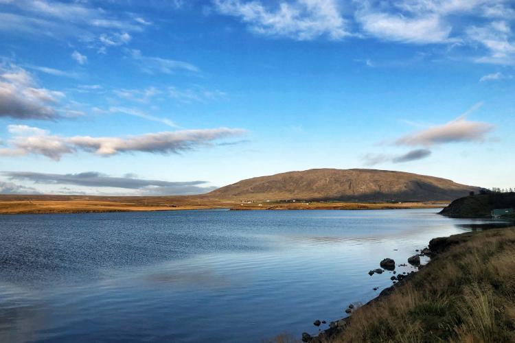 Landscape on Iceland coast