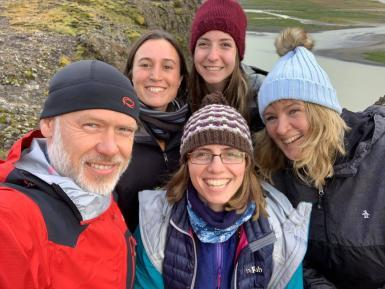 Volunteer group in Iceland
