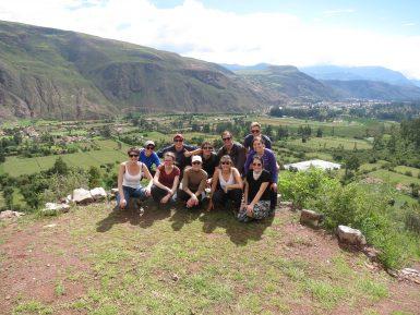 Volunteers trekking in Peru