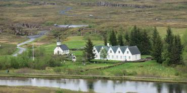 Þingvellir National Park views in Iceland