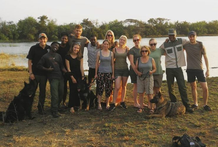 Wildlife volunteer group in South Africa
