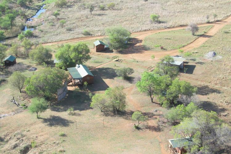 Volunteer camp in South Africa aerial view