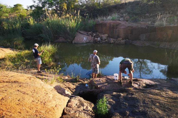 Volunteers fishing in South Africa