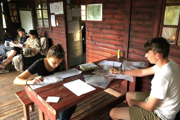 Volunteers working in South Africa
