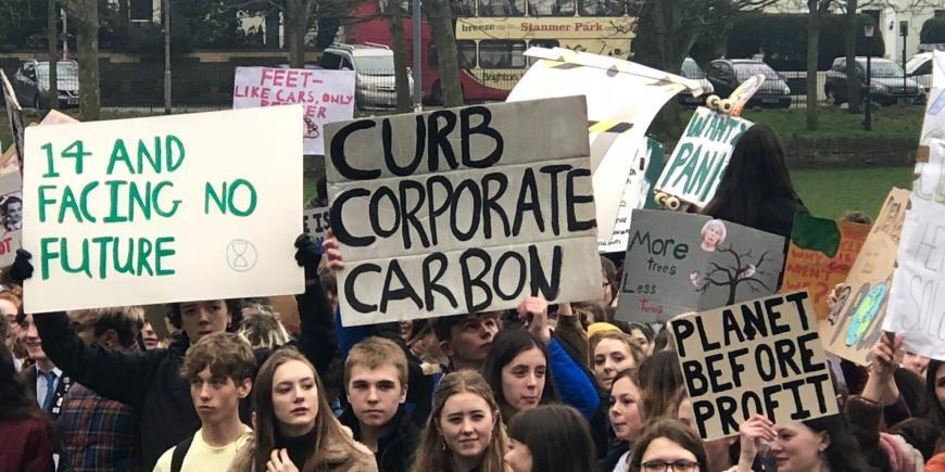 Youth climate protest in Brighton
