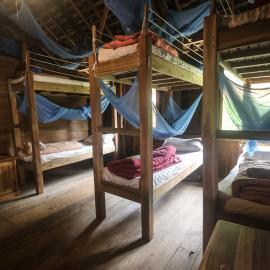 Volunteer dorm in Laos elephant sanctuary