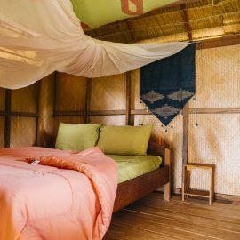 Private bungalow Laos elephant sanctuary
