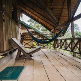 Volunteer bungalow deck in Laos