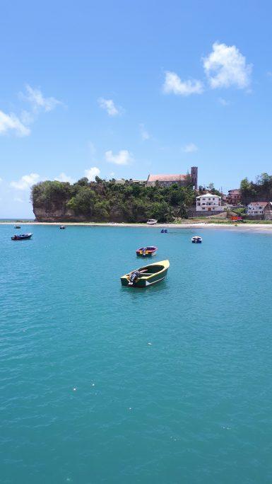 Boat on water in Grenada