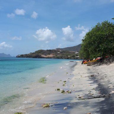 Beach on Carriacou island