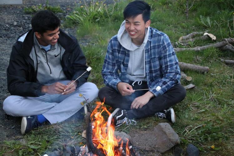 Volunteer Jackie Chan in Iceland