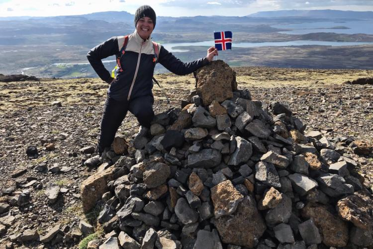 Kasie volunteer from the USA in Iceland