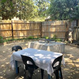 Volunteer garden in South Africa