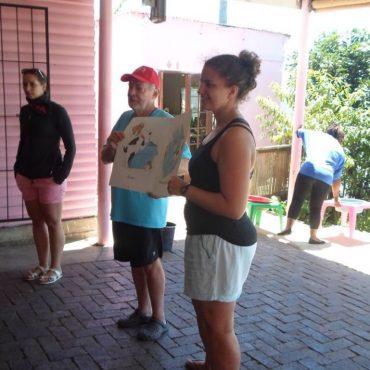 Ben Briggs volunteering in South Africa