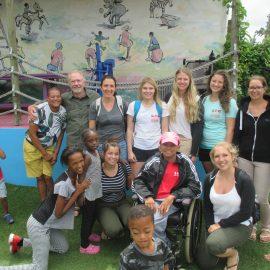 Volunteer group in South Africa