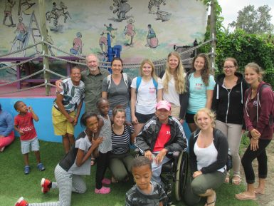 Volunteer group in South Africa