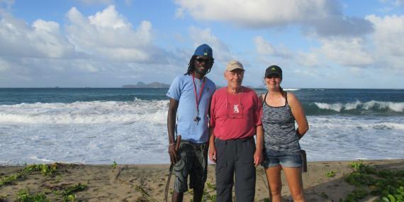 Volunteers on the Beach in Grenada