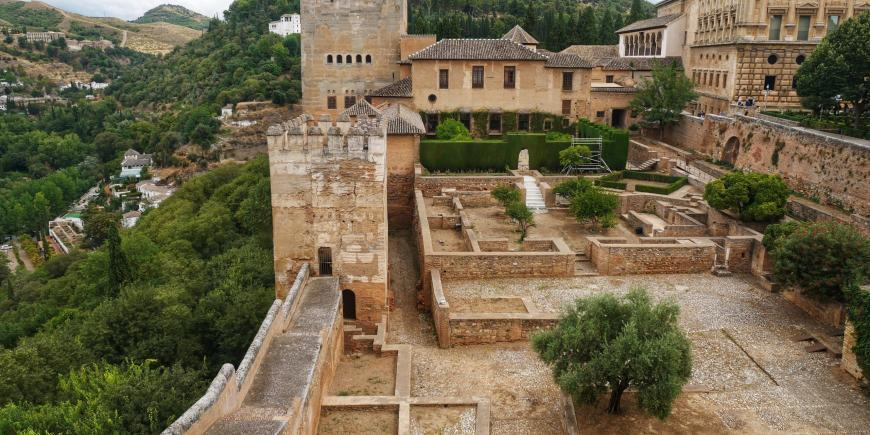 View from fort in Granada, Spain