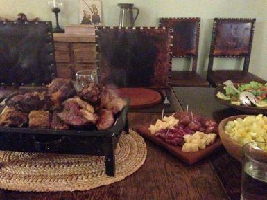 Asado meal in Argentina