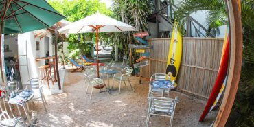 Chill out zone for volunteers in Mauritius