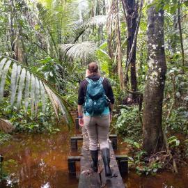 Volunteer in amazon rainforest peru
